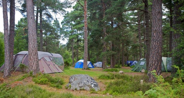 Zelten in der Natur